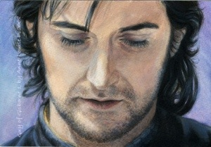 Guy of Gisborne painting sequence pictures.