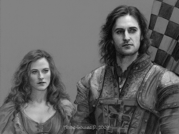 Isabella and Guy of Gisborne = large amounts of sibling rivaly.